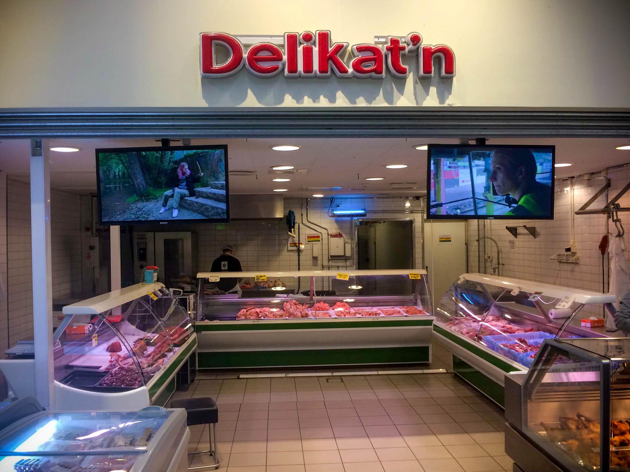 Oslo 1, work, installed at butchers in Grønland, Oslo 2020