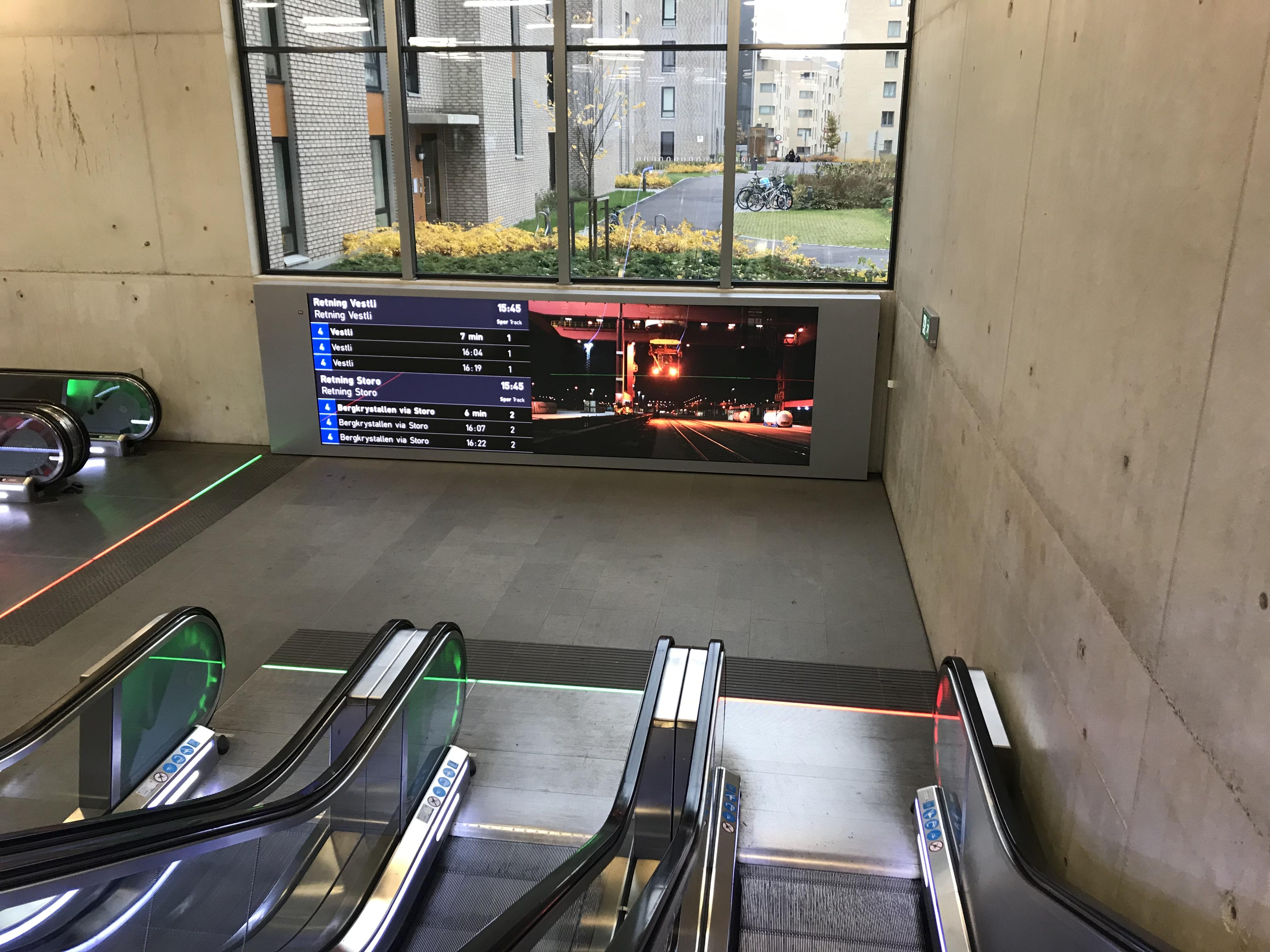 Oslo 1, work, installed at Løren T-bane stop 2020